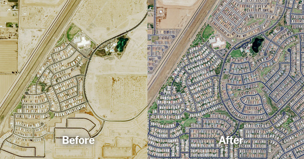 A Decade of Urban Transformation, Seen From Above