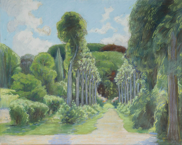 ''s Graveland' - pastel: Simon Moulijn (herkomst: coll. Kunsthandel Hein A.M. Klaver)