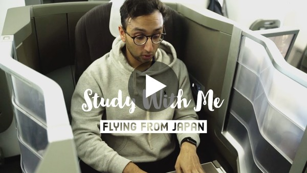 Study With Me - Flying From Japan