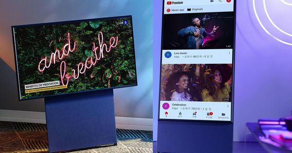 Samsung's new Sero TV can rotate vertically for your TikTok and Instagram videos