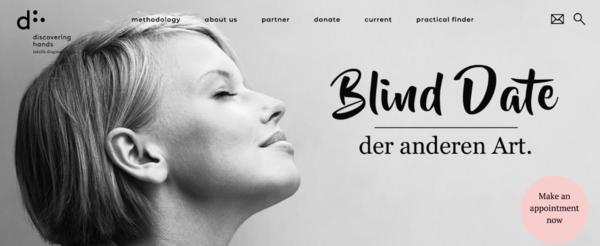 """Ukas beste wordplay: På nettsiden til Discovering Hands kan kvinner i Tyskland """"bestille en blind date"""". Min type humor!"""