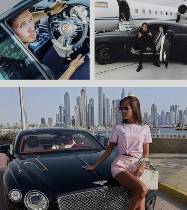Trutmunn og en Bentley du har leid i 15 minutter. Oppskriften på lykke, likes og livskvalitet. (theRKOI.com)