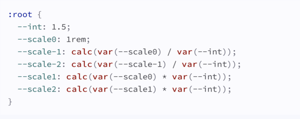 CSS variables for a 1.5 scale
