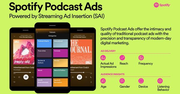 Spotify will use everything it knows about you to target podcast ads