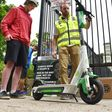 As city mulls fate of e-scooters, one company touts use by Blue Line riders