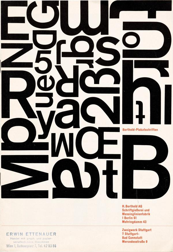 Akzidenz-Grotesk Specimen, Berthold, (ca. 1956).