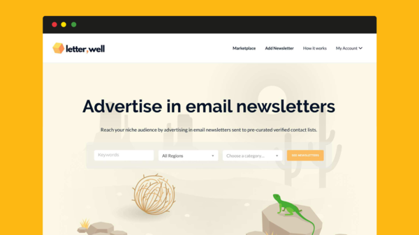 LetterWell – Advertise in email newsletters
