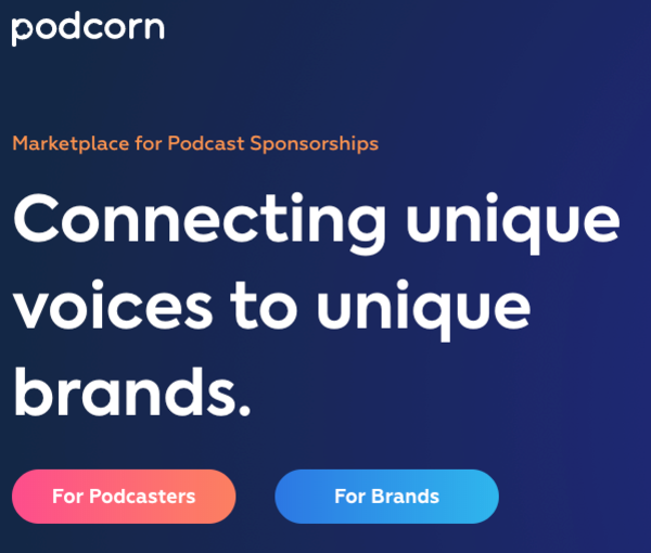 Marketplace for Podcast Sponsorships and Endorsements