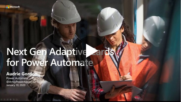 Adaptive Cards for Power Automate - Feature Introduction