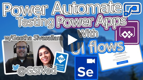 Power Automate Tutorial - Testing Power Apps with UI flows