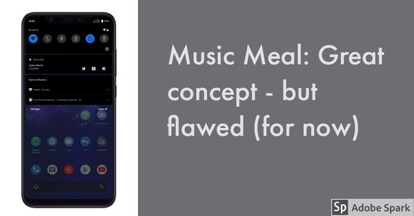 Music Meal: Great concept - but flawed (for now) [Sponsored]