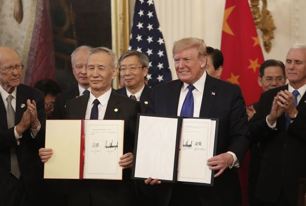 Trump, China Sign Phase One Trade Deal