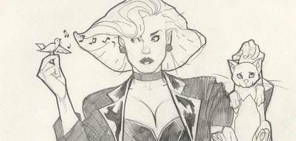 Adam Hughes - Black Canary Original Comic Art