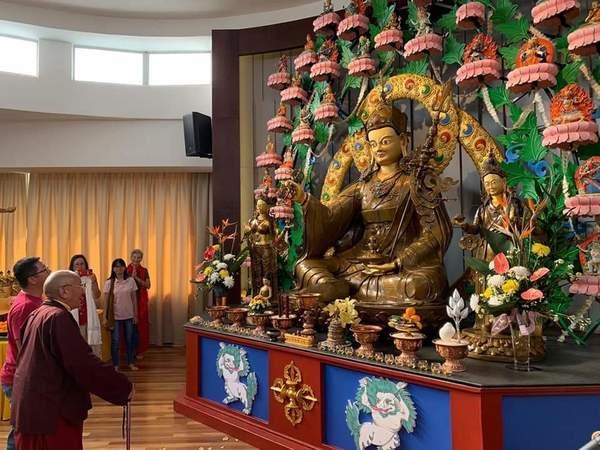 Kyabjé Khenpo in Guru Rinpoche Lhakang, Malaysia