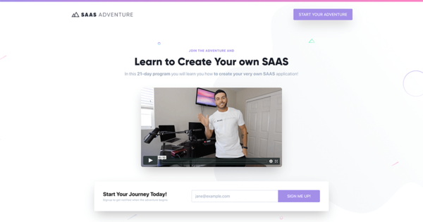 SAAS Adventure - Learn to Create your own SAAS