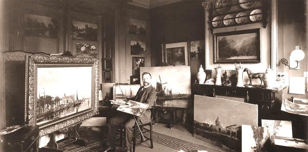 J.H. Wijsmuller in zijn atelier
