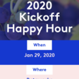 INFLECTION 2020 Kickoff Happy Hour