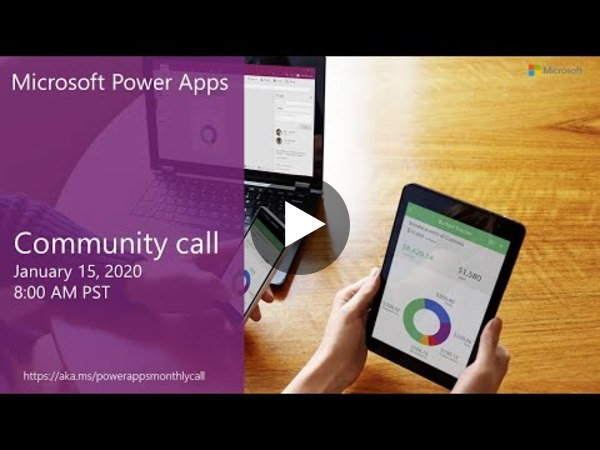 Microsoft Power Apps community call-January 2020