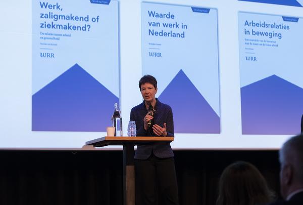 WRR-voorzitter Corien Prins opende de bijeenkomst