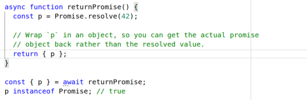 You can make an async function return a promise
