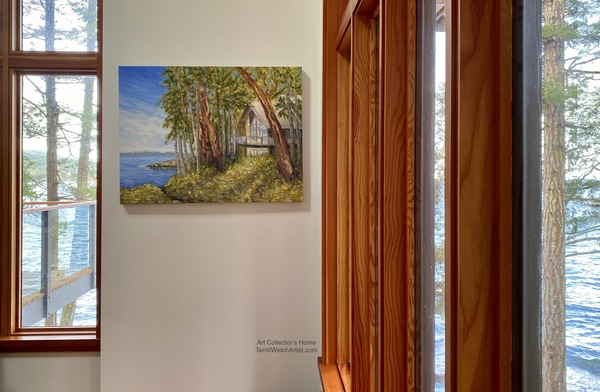 """Sailing Through the Trees"" By Terrill Welch in art collector's home."