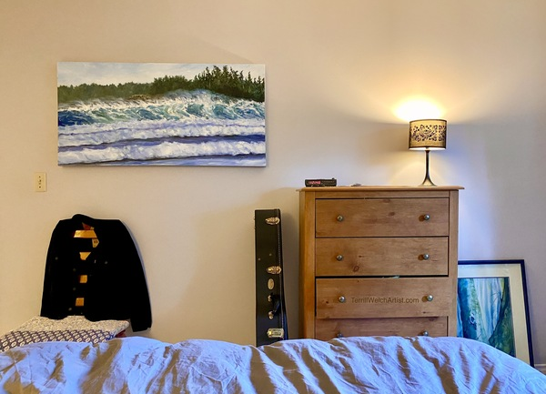 """Sea and Sun Cox Bay Tofino BC"" 24 x 48 inches by Terrill Welch"