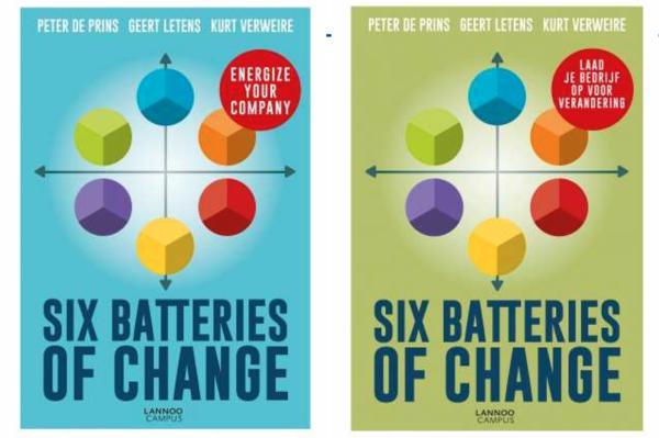 Six Batteries of Change is verkrijgbaar in het Engels en het Nederlands, met dezelfde titel :-)