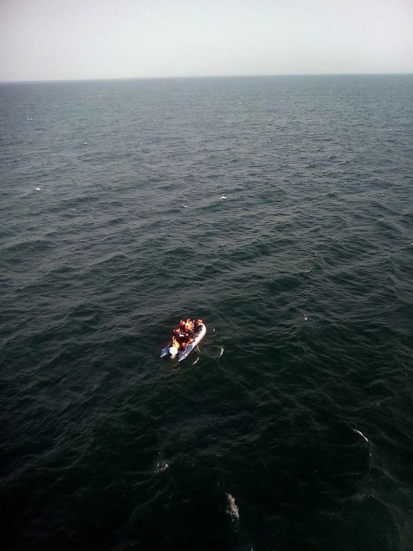 In dit soort bootjes proberen vluchtelingen de Noordzee over te steken.