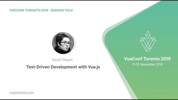 Test driven development with Vue.js by Sarah Dayan