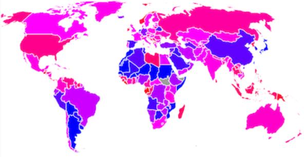 The Street-network Sprawl Map