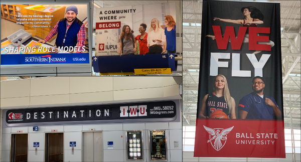 The Indianapolis airport wants you to go to college.