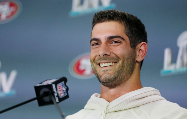 Arlington Heights' Jimmy Garoppolo hopes to get prep jersey retired if he wins Super Bowl