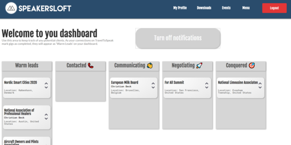 Get an automatically populated lead-board.