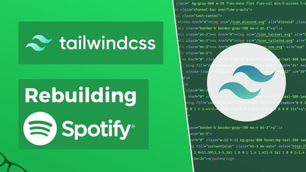 Rebuilding Spotify w/ Tailwind CSS v1.x