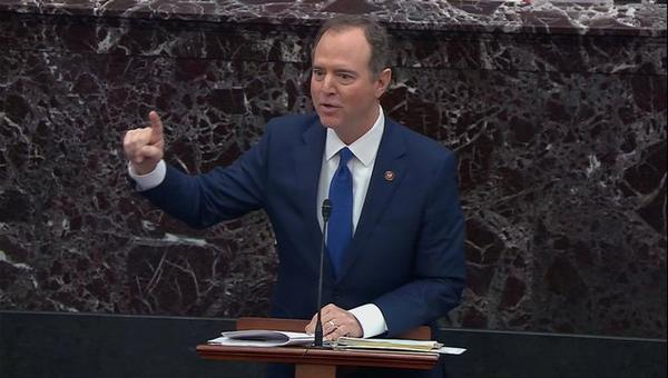 Congreslid Adam Schiff leidde het impeachmentonderzoek namens de Democraten (foto: Reuters)