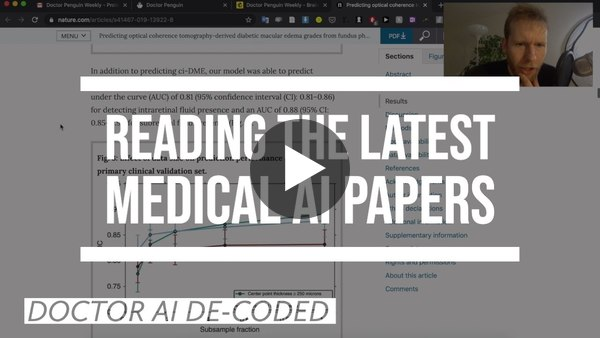 Doctor reacts to latest medical AI research papers | January 2020