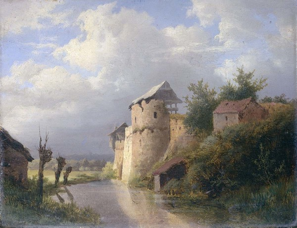 'De oude burcht' - olieverf op paneel: Louwrens Hanedoes (herkomst: coll. Rijksmuseum Amsterdam)