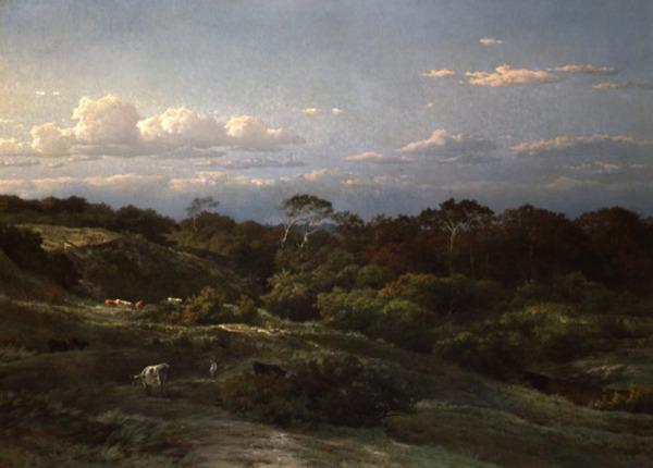 'De Haarlemse Duinen' 1863 - olieverf op doek: Louwrens Hanedoes (herkomst: coll. Dordrechts Museum)
