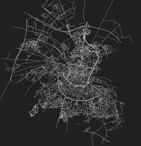 La ville d'Amiens, générée par le script anvaka, de Sylvain