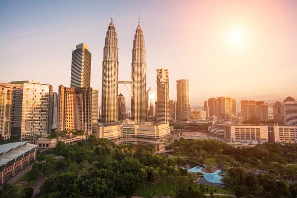 Het hoogste tweeling gebouw ter wereld: de Petronas Twin Towers.