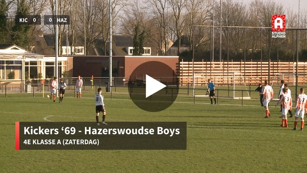 Samenvatting Kickers '69 - Hazerswoudse Boys , uitslag 0-2 (video)