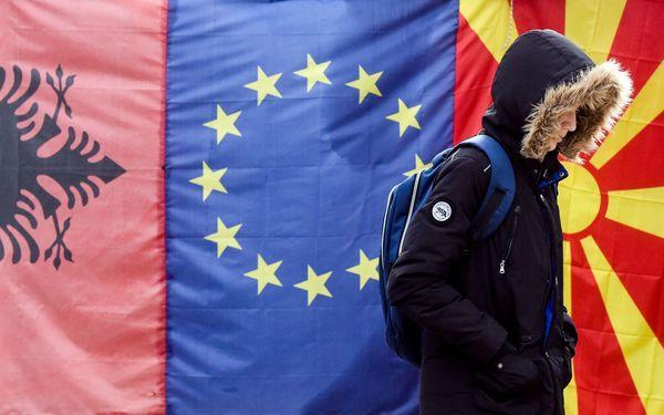 Tirana, de hoofdstad van Albanië dat lid wil worden van de EU