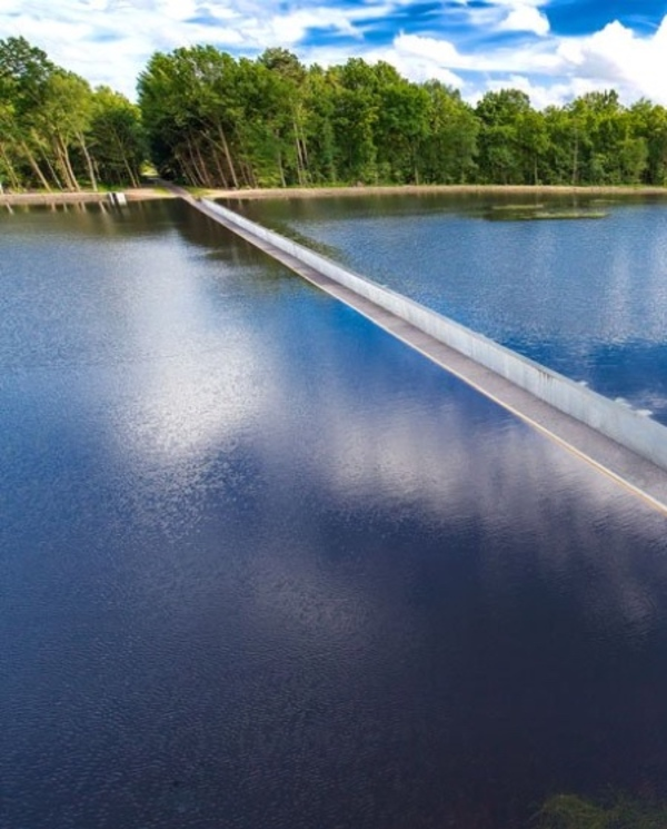 Cycling Through Water Bridge