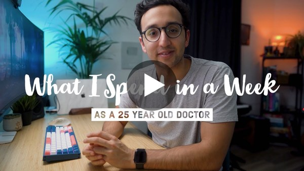 What I Spend in a Week as a 25 Year Old Doctor