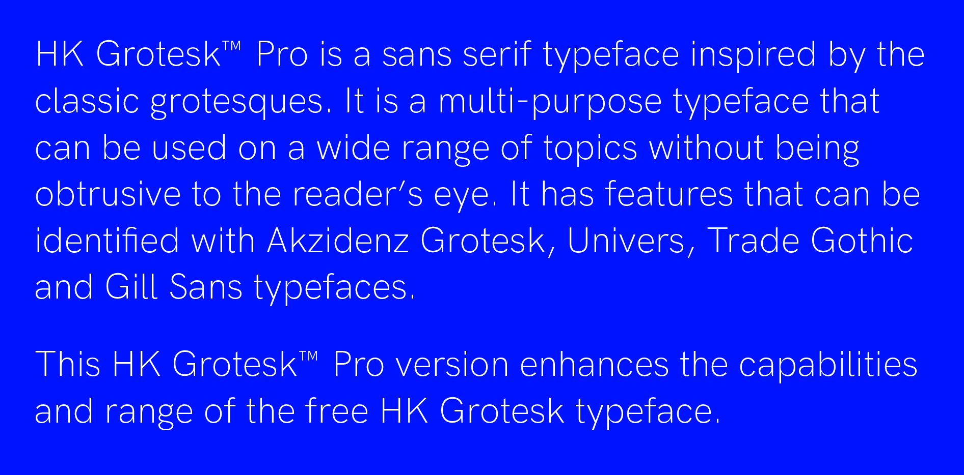 Buy one typeface and get one free at Hanken Design with code ITTAKESTWO