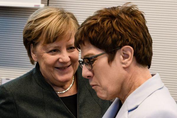 Merkel en AKK