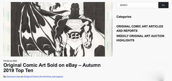 www.comicart.tips - Ebay Original Comic Art Top 10