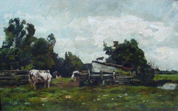 'Melkbocht' olieverf op doek: Willem de Zwart