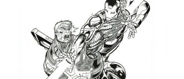 Ed McGuinness - Avengers Original Cover Art