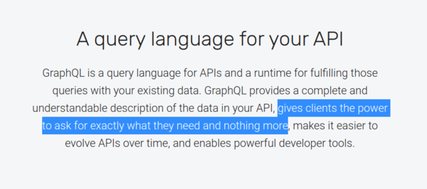 "The graphql.org home page makes GraphQL sound like ""security flaws as a service"""